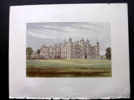 Morris Sears C1870 Antique Print. Burghley House